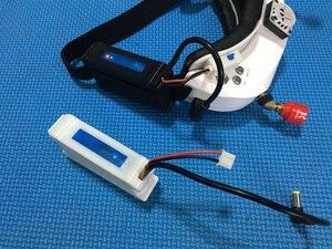 Image 5 - Boîtier de batterie 7.4V 18650 Li ion, boîtier DC5.5 x 2.5 pour lunettes FATSHARK FPV, vidéo, casque sans batterie Drone RC