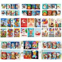 AZQSD-pintura de diamante DIY, mosaico de tarjetas de felicitación, Forma especial, Tarjetas de Navidad, tarjetas postales, regalo de cumpleaños, conjunto completo 2019