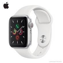 Officiële Nieuwe Apple Horloge Serie 5 Gps + Cellular 40Mm/44Mm Aluminium Case Met Wit/Zwart/Roze Zand Sport Band Remote Smartwatch