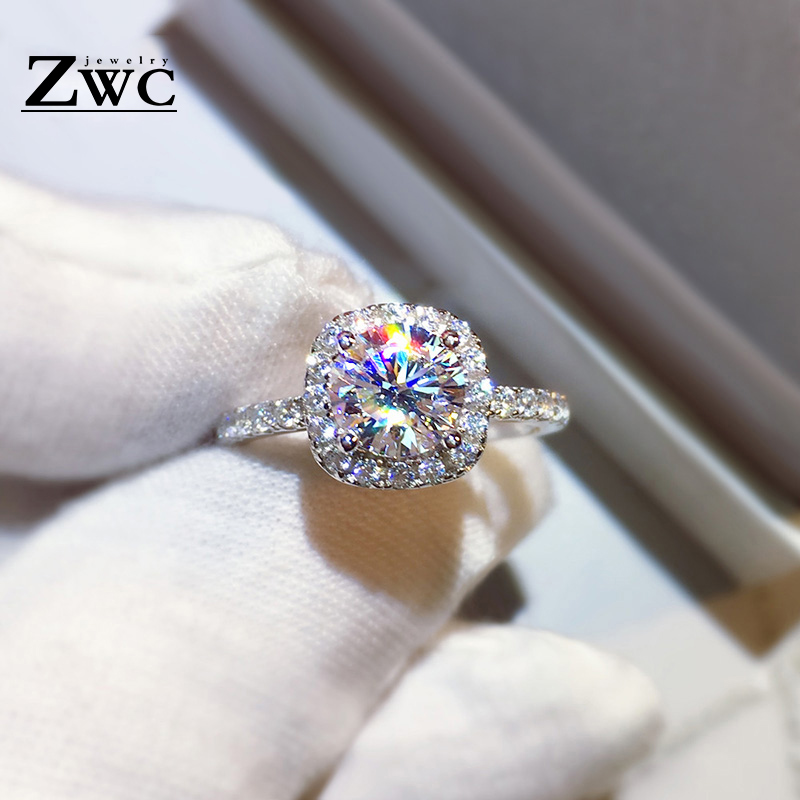 Fashion Luxury Crystal Engagement Ring for Women AAA White Cubic Zirconia Silver color Rings 2020 Wedding Trend Female Jewerly