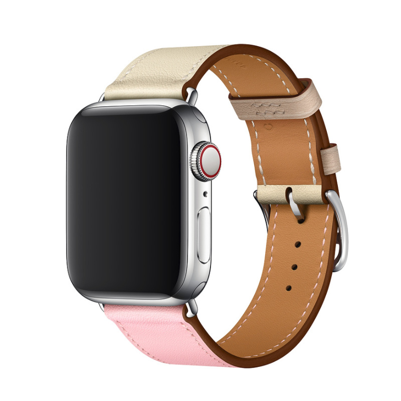 For Apple Watch Leather Watch Strap Iwatch1234 Contrast Color New Watch Strap APPLE Watch Single Loop Watch Strap