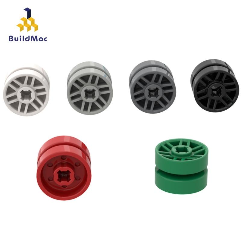 BuildMOC Compatible Assembles Particles 11208 14mm Small Wheel Hub For Building Blocks Parts DIY LOGO Educational Gift Toys