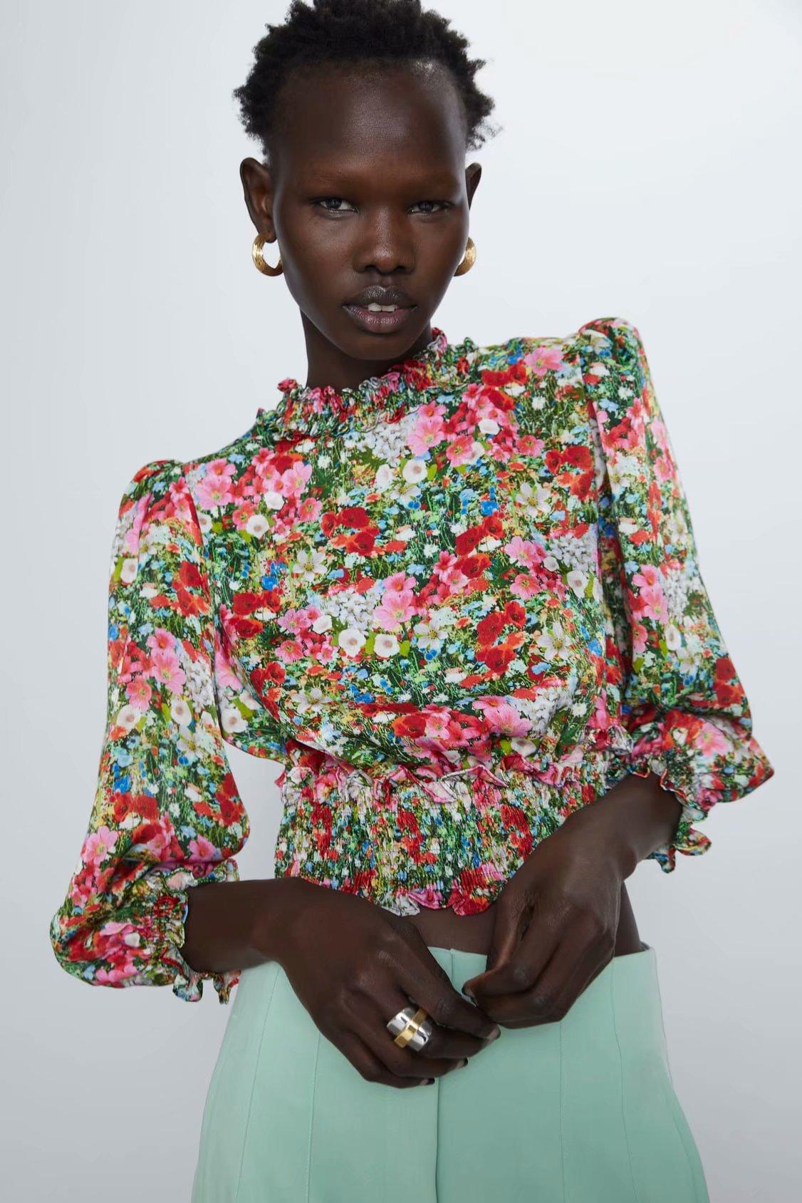 2020 Blouse Women Plus Size Vintage Tops Clothes Grand Prix Short Zaraing Women Blouse Shirt Sheining Vadiming Shirt CDC9657