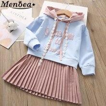 Beenira Children Dress 2017 Autumn European and American Style Girls Pattern Pocket Long-Sleeve Dress For 2-7Y Baby Kids Dresses цена 2017
