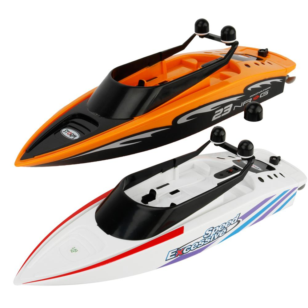 None RC Creative Sea Boat Toys 2.4GHz Mini Radio Control Electric Racing Remote Control Boats Toys for Children Boy Gift
