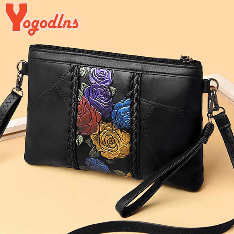 Yogodlns damska projektant kożuch torebka 2020 moda nowy wysokiej jakości prawdziwej skóry kobiet torebki torba na ramię