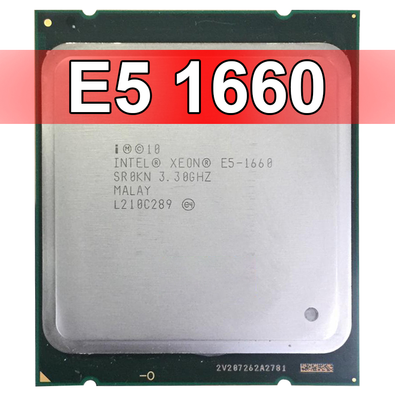 INTEL XEON 6 CORE PROCESSOR E5-1660 3.3GHZ 15MB CACHE TDP 130W CPU SR0KN