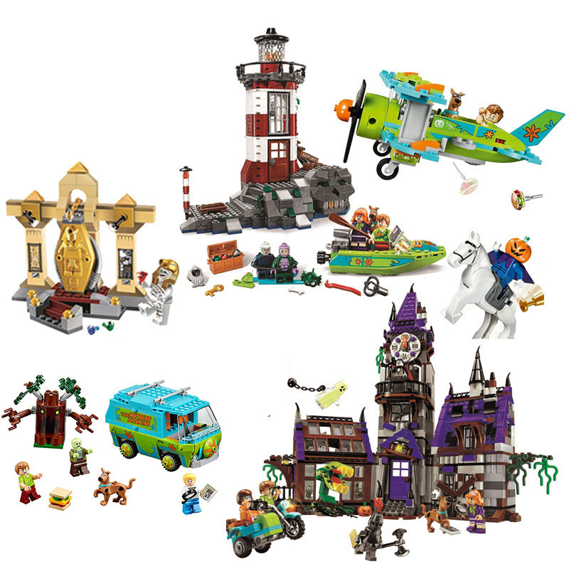 10430 10432 Scooby Doo Bus Mystery Mansion Block Set Mini DIY Model Figures  Legoinglys  Building Brick Toy For Children