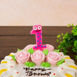 1 шт./компл. Творческий красочные лягушка номер день рождения свечи торт, кекс Топпер для вечеринки, дня рождения торт свеча вечерние украшен...