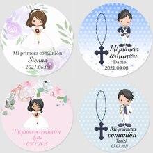 3-7cm custom name communion label, first communion sticker, first communion name collection, baptism, gift tag