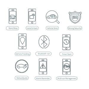 Image 5 - Cardot 2G Passieve Keyless Entry Systeem Smart Auto alarmen Drukknop Start Stop Mobiele App Smart Pke Auto alarmsysteem