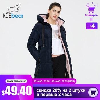 ICEbear 2020 nouveau hiver femmes veste de haute qualité longue femme manteau à capuche femme Parkas élégant femmes marque vêtements GWD19507I 1