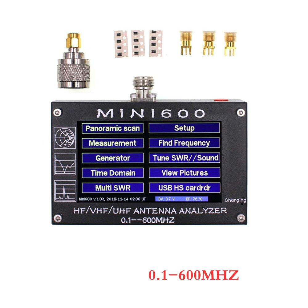 Analyseur d'antenne d'écran tactile MINI600 0.1-600MHZ HF/VHF/UHF testeur d'antenne professionnel MINI600 compteur d'antenne