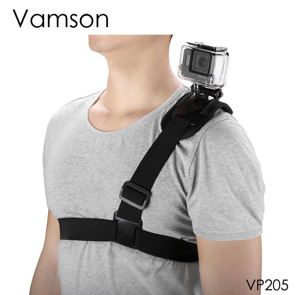 Vamson For GoPro Accessories Shoulder Chest Harness Tripod Strap Mount For GoPro Hero 7 6 5 4 3+2Xiaomi For Yi For SJCAM VP205