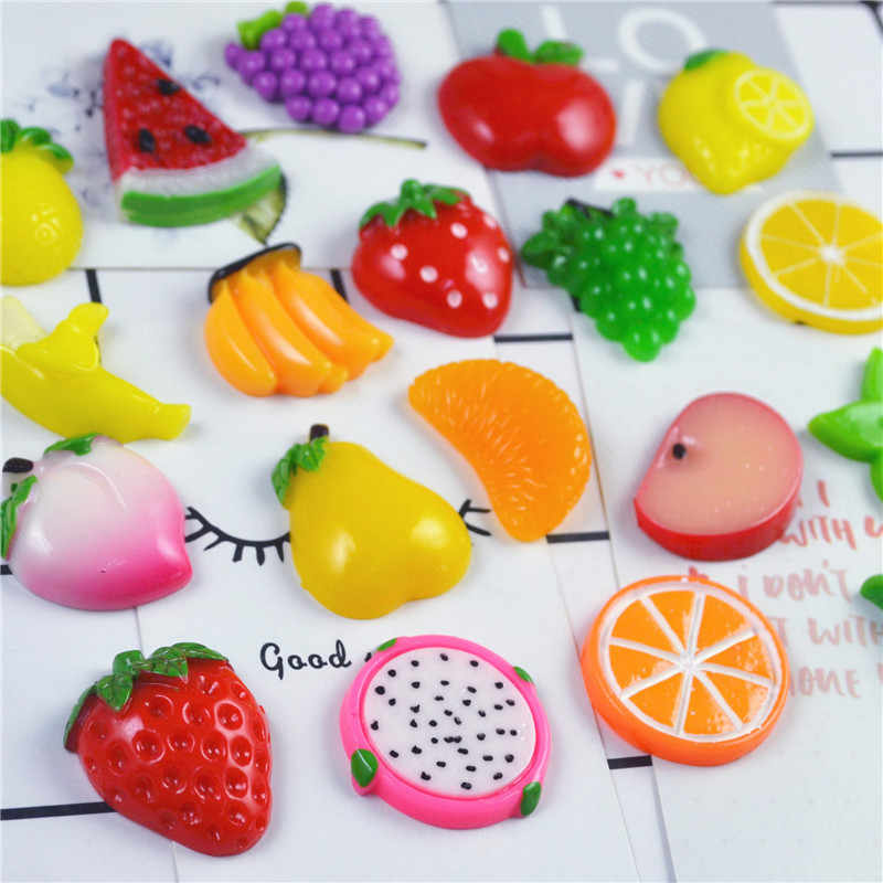 Various Fruit Lizuny Lightweight Clay Additives for Slices Clay for Slimes DIY Cream Phone Shell Hair Resin Material Accessories