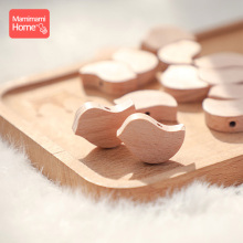 10pcs Baby Teether Wooden Beech Bead rodent Chewable Star Hearts Bead DIY Neckla