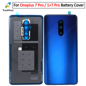 Image 4 - Original For OnePlus 7 Pro Back Battery Cover Door Rear Glass For Oneplus 7t pro Battery Cover Housing Case with Camera Lens