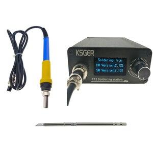 KSGER 3 pièces V2.1S T12 Station de soudage électrique régulateur de température numérique fer à souder électrique conseils T12-K + 907 poignée