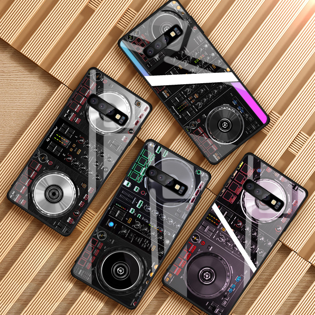 ddj dj music For Samsung Galaxy NOTE 8 9 S8 S9 S10 PLUS A6 A6S A8 A8P J6 J8 2018 Tempered Glass Phone Case