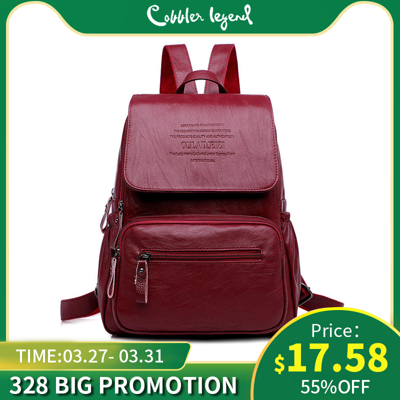 2019 New Genuine Leather Women Backpack For Teenager Girl Large Capacity Multifunction School Backpack Sheepskin Travel Mochila