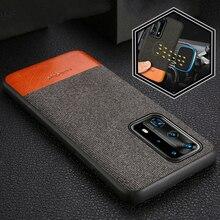 Stof Magnetische Case Voor Huawei P40 Pro P30 Lite P20 Mate 20 10 Lite Back Cover Voor Huawei Nova 5T Honor V30 9X8X30 Pro 30S