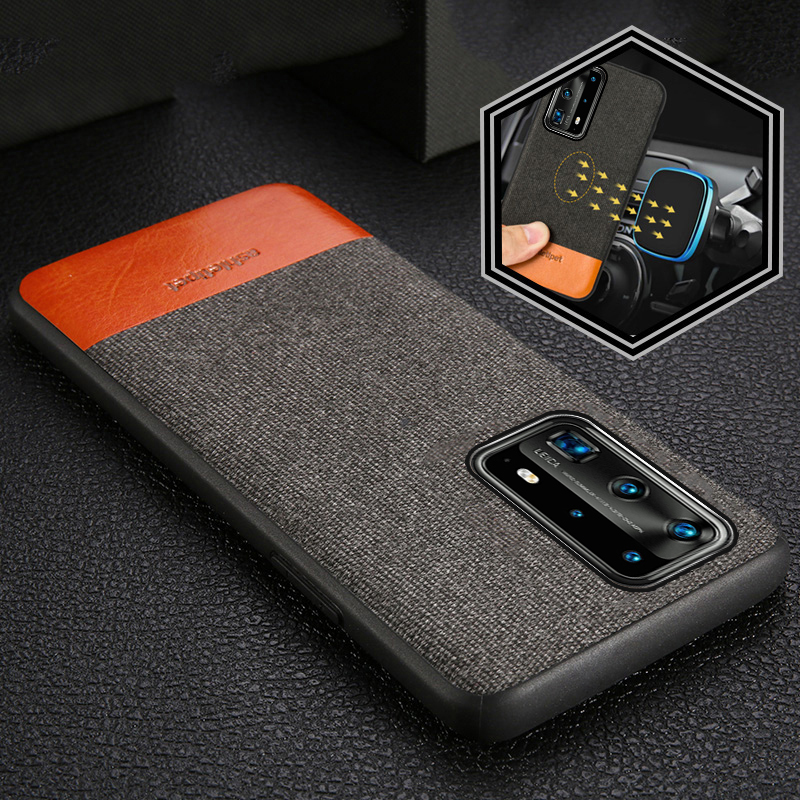 Fabric Magnetic Case For HUAWEI P40 PRO P30 LITE P20 MATE 30 20 Back Cover Man Business Case For Huawei Nova 5T Honor V30 9X 8X