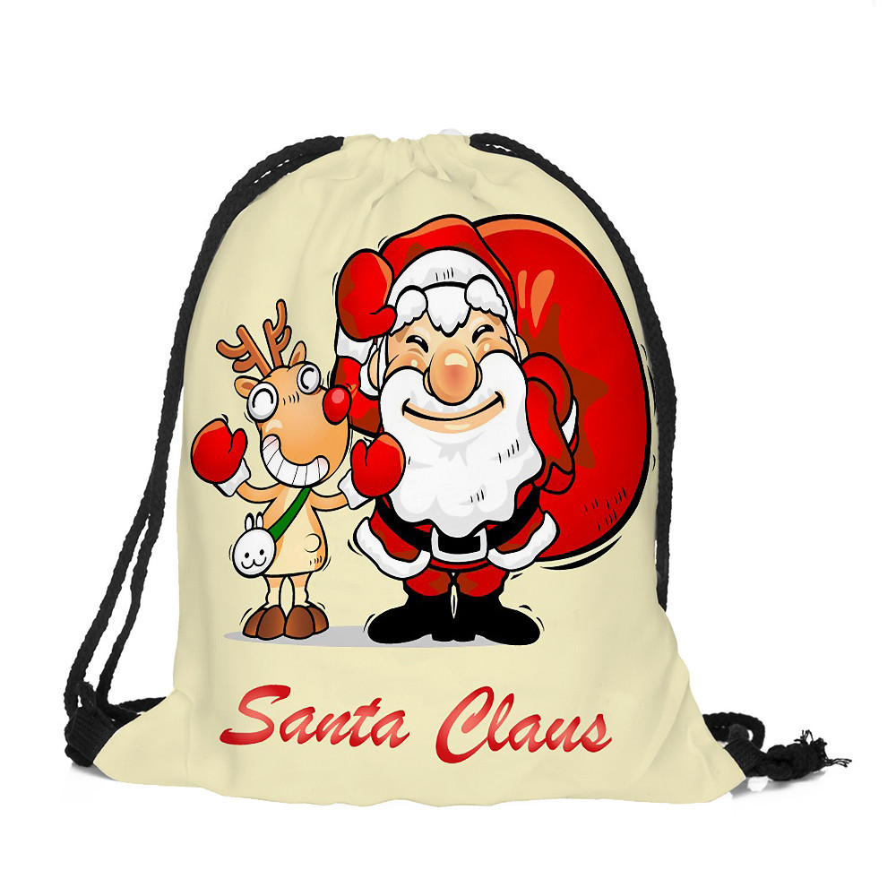 PU Leather Shoulder Bag,Cute Christmas Costume Collection In Hand Drawn Style Backpack,Portable Travel School Rucksack,Satchel with Top Handle