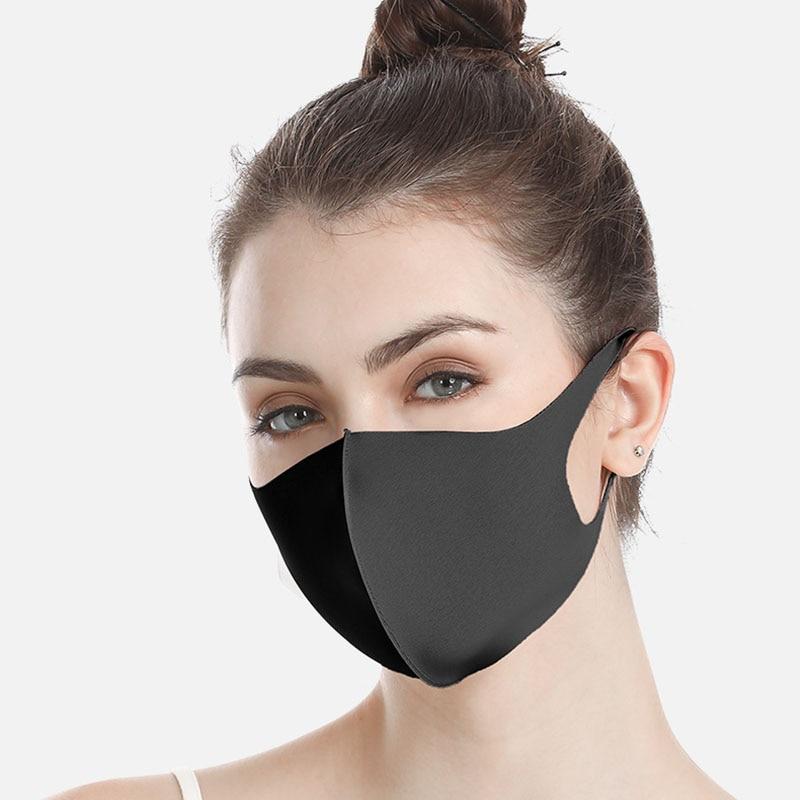 Wholesale 50Pcs, 100Pcs Black Anti Dust Mask PM2.5 Mouth Cover Reusable Dust Mask Filter Breathable Face Muffle Men Women Respir