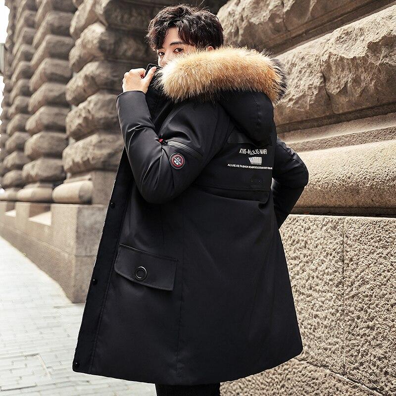 New Winter Long Jackets Men Coats 8XL Casual Warm Thick Fur Collar Jacket Parkas Men New Luxury Outwear Waterproof Parka Coat