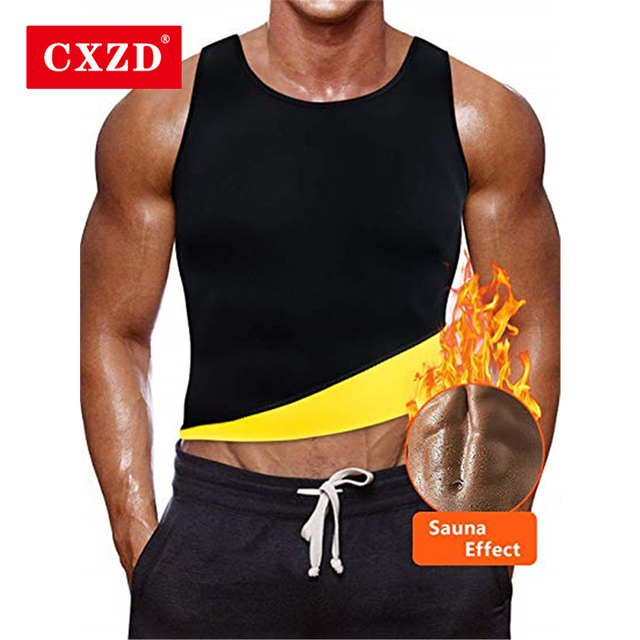 CXZD Slimming Belt Belly Men Slimming Vest Body Shaper Abdomen Fat Burning Shaperwear Waist Sweat Corset Weight Dropship