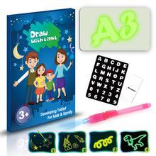 Светильник для рисования, доска для рисования, игрушка для рисования, светильник, 3D доска для рисования, забавная и развивающая игрушка для детей, подарок на день рождения