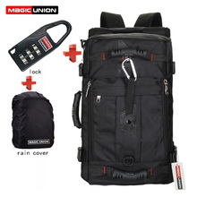 MAGIC UNION Brand Lock+ Cover + Bag Laptop Backpack Men Mochila Masculina Mans Backpacks Mens Luggage & Travel bags