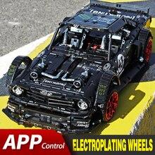 APP RC tuğla Ford Mustang Hoonicorn RTR V2 şehir yarışı araba Model seti Fit Lepining teknik MOC 22970 yapı taşları çocuk oyuncakları