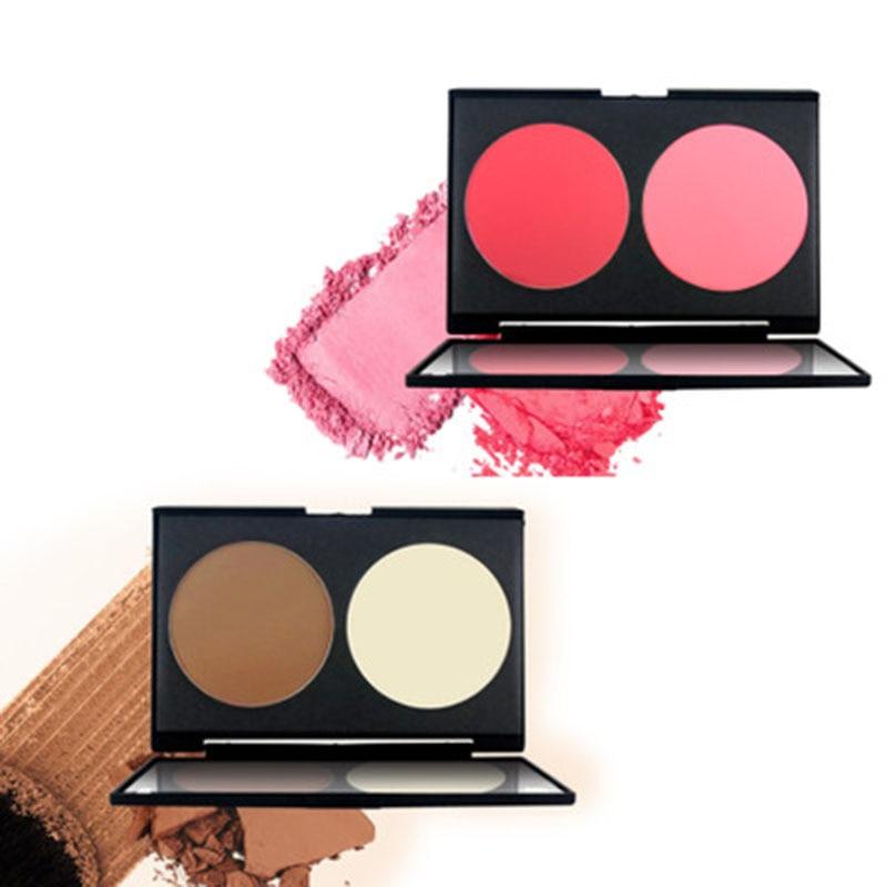ZHENDUO 2 colors V face Matte Blush Powder palette blush rouge grooming contour enhances color makeup cosmetics