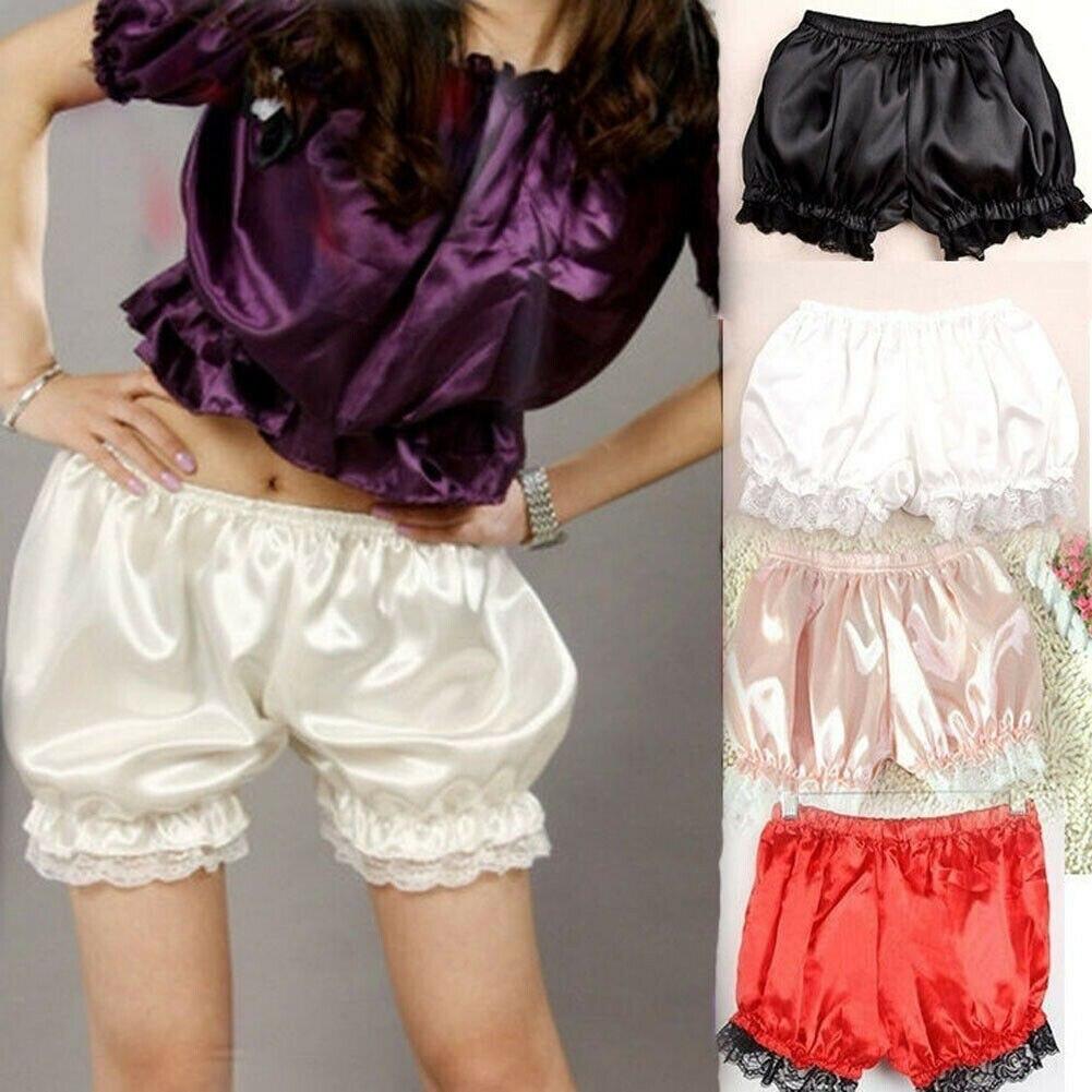 Women Lolita Bloomers Lace Pumpkin Ruffles Long Underpants Safty Pants