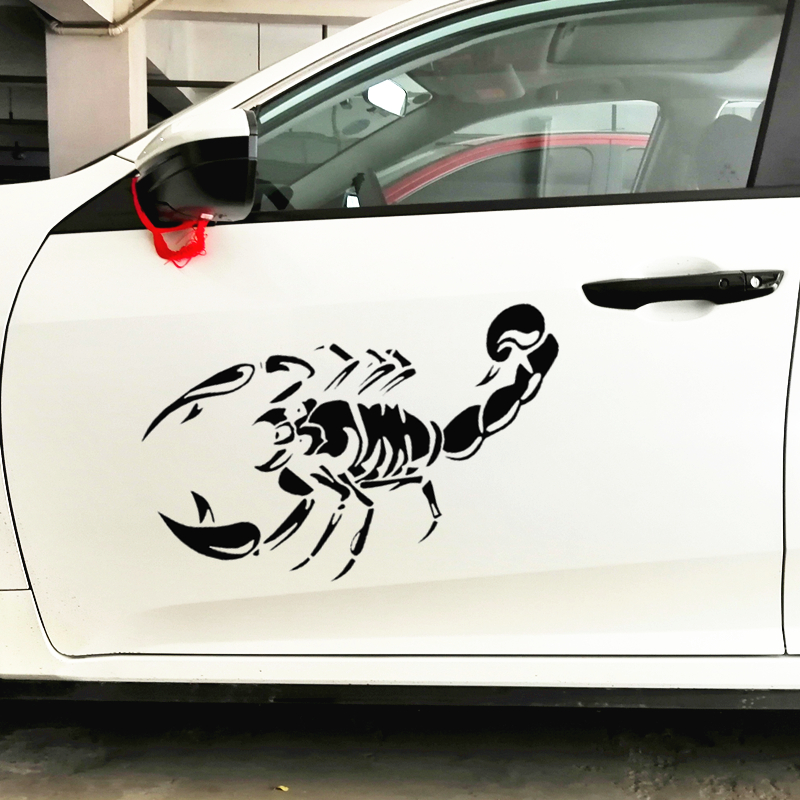 50CM*30CM Scorpion Car Stickers Funny Creative Decoration Decals For Doors Windshield Auto Tuning Styling Vinyls D21