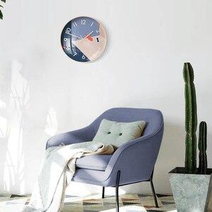 Image 4 - Youpin Yuihome Decor Orologio Da Parete 30.5 centimetri Specchio Superficie di Vetro di Arte Motivi Geometrici Casa Muto Orologio per Smart Home, Casa Intelligente