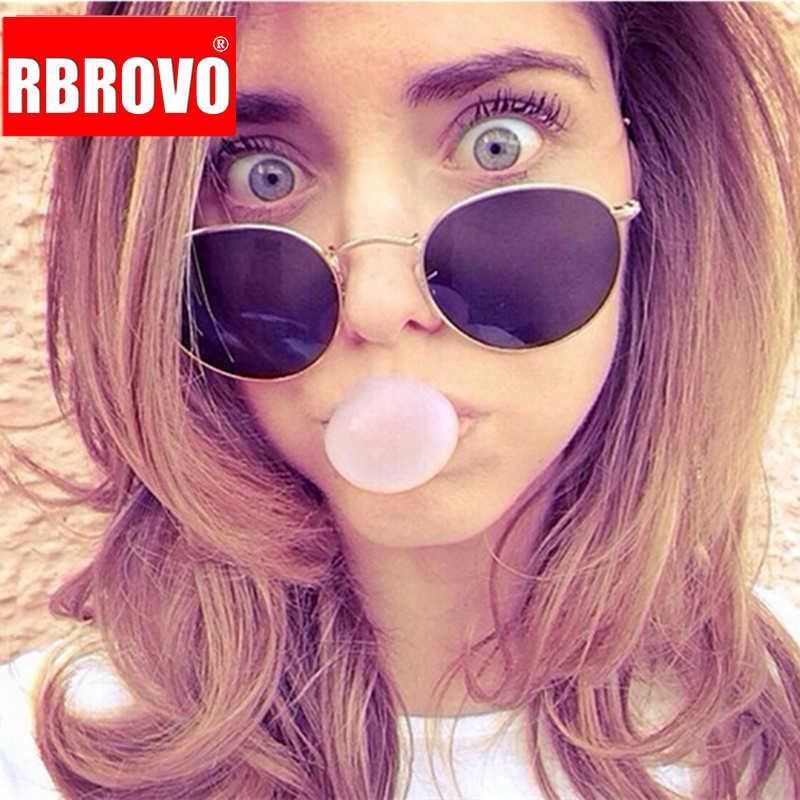 RBROVO 2019 Vintage Hình Bầu Dục Cổ Điển Kính Mát Nữ/Nam Kính Mắt Đường Đánh Mua Sắm Gương Oculos De Sol Gafas UV400