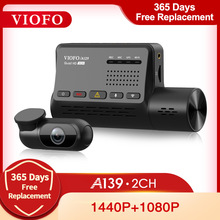 VIOFO A139 Car DVR Dash Cam Dual Channel with GPS Built in Wifi Voice Notification Rear