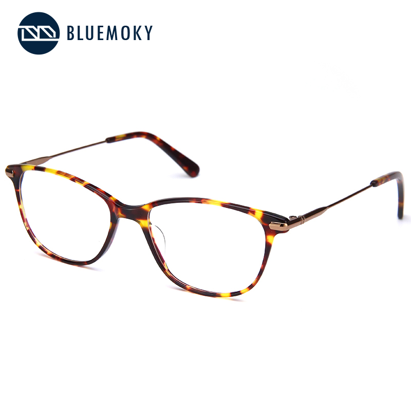 BLUEMOKY Prescription Glasses Frame for Women Optical Myopia Eyewear Eyeglasses Frame Women Clear Lens Rectangular Fake Glasses-in Women's Eyewear Frames from Apparel Accessories