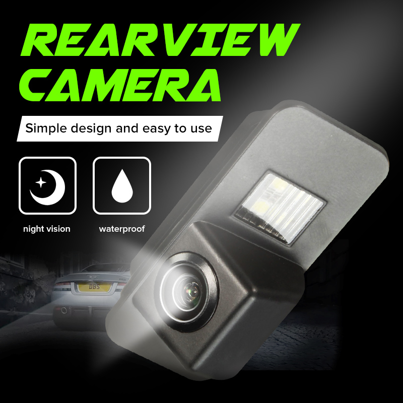 Car Rear View Camera Back Up Reverse Parking Night Vision Waterproof For Ford Mondeo BA7 Focus C307 S-Max Fiesta Kuga