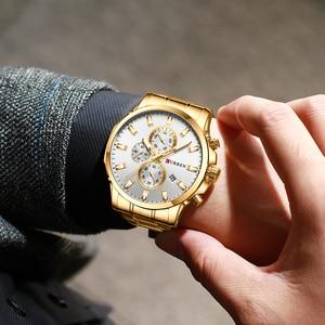 Image 5 - CURREN Men Luxury Brand Quartz Watch Military Watch Fashion Causal Chronograph Clock Stainless Steel Wristwatch Montre Homme