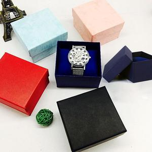 1pc Cardboard Jewelry Boxes Gifts Present Storage Display Boxes For Necklaces Bracelets Earrings Rings Square Black Watch Box