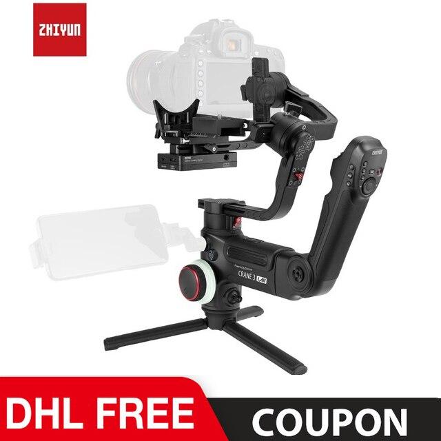 Instock ZHIYUN oficjalny żuraw 3 LAB 3-osiowy kardana ręczna bezprzewodowy 1080P FHD stabilizator kamery transmisji obrazu VS Crane 2