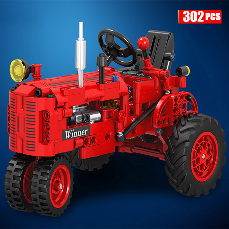 302pcs Technic Classic Old Tractor Building Block Brick Toys Children Funny Gift