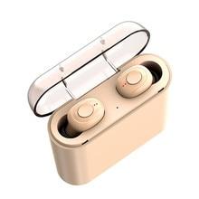 אלחוטי אוזניות Bluetooth V5.0 X18 TWS אלחוטי Bluetooth אוזניות 8d עם 3600mAh כוח בנק אוזניות עם מיקרופון