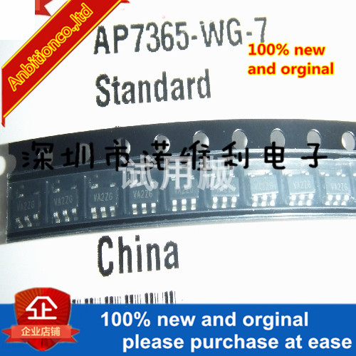 5pcs 100% New Original AP7365-WG-7 Power Management Chip Regulator IC IC SOT23-5 In Stock