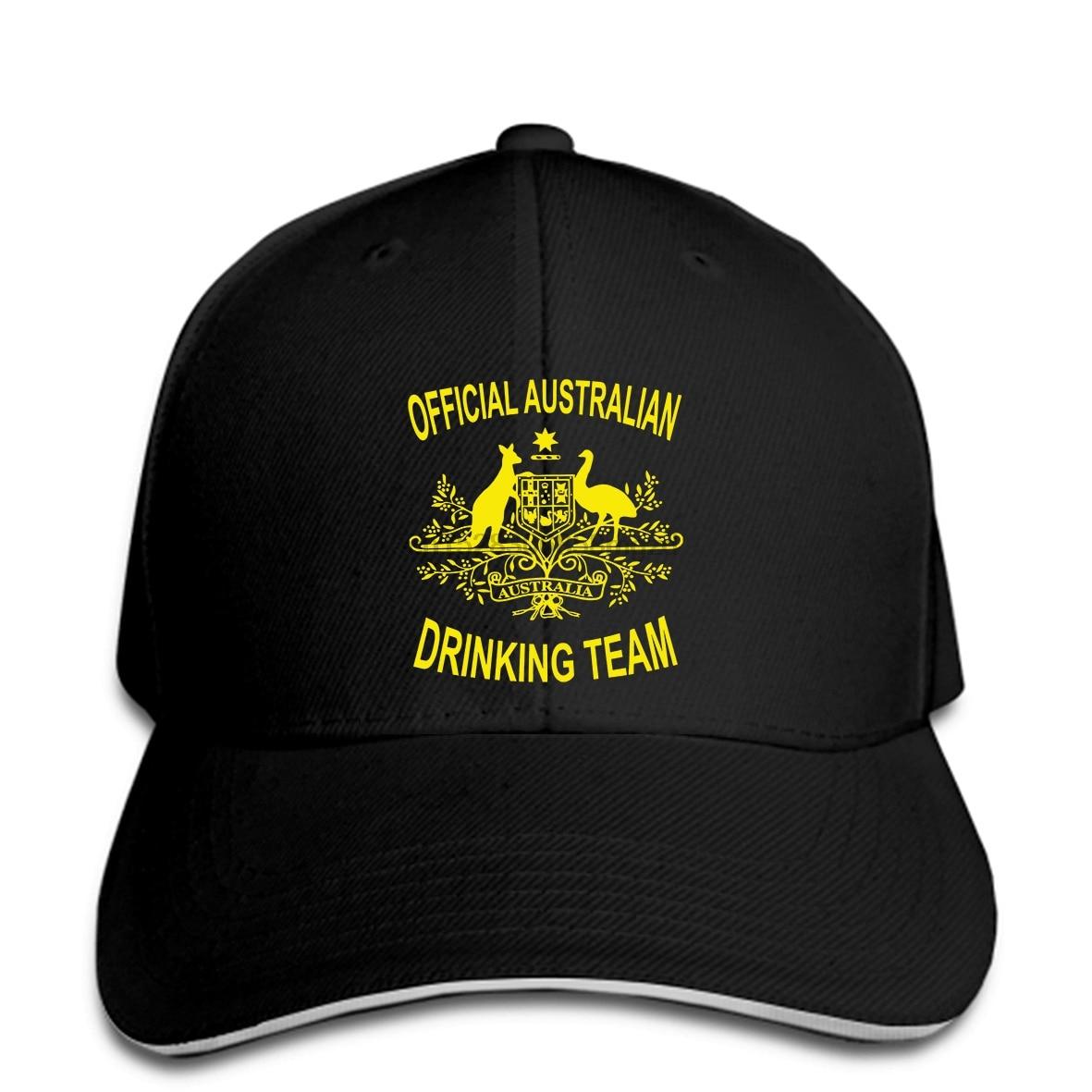 Australian Drinking Team Men Baseball Cap with Packaging funny australia beer Snapback Cap Women Hat Peaked