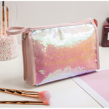 Make-Up-Bag Maquillage Rangement Beauty Large-Capacity Cute Pouch Sequins Cheap Lady
