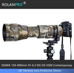 Линзы ROLANPRO камуфляжное пальто, дождевик для SIGMA 150-600 мм, F5-6.3 DG OS HSM, Современная (версия AF) Защитная крышка для объектива
